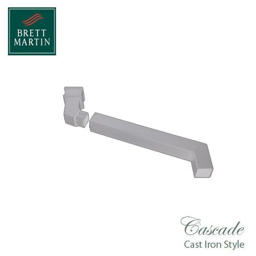 Cascade Cast Iron Style Square Downpipe Adjustable Offset Bend - White