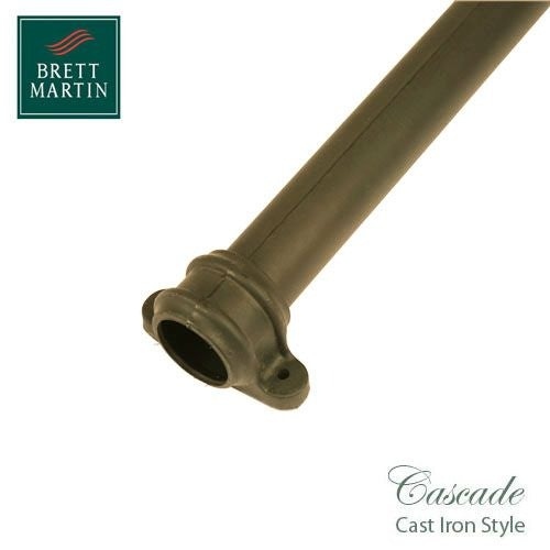 Cascade Cast Iron Style 68mm x 1.8m Socketed Pipe With Lugs - Sand