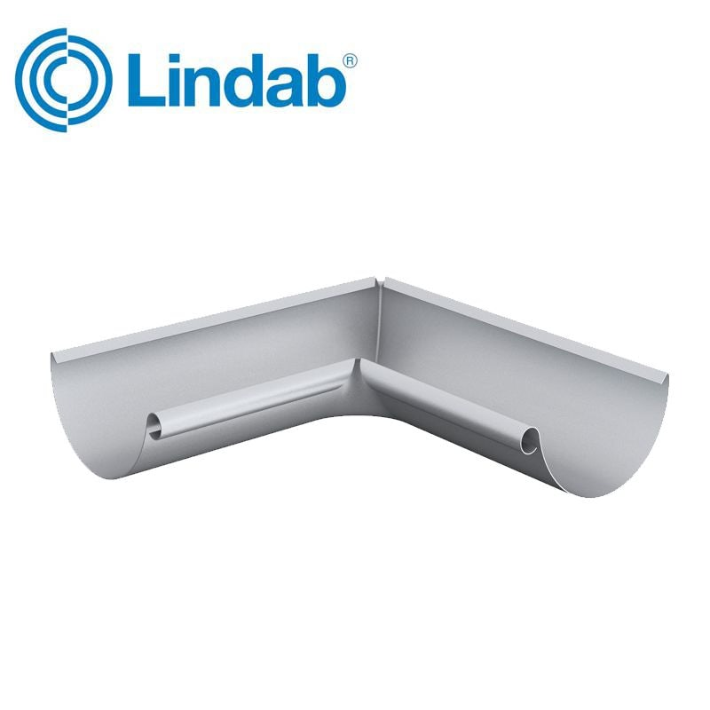 Video of Lindab Half Round 90dg Inner Gutter Angle 100mm Painted Silver