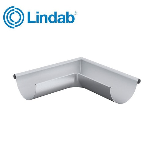 Lindab Half Round 90dg Outer Gutter Angle 100mm Painted Silver