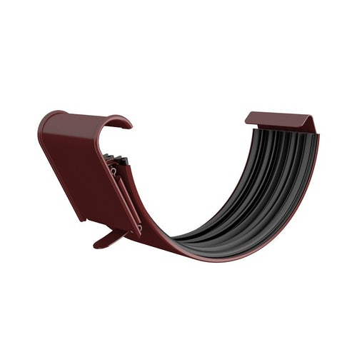 Lindab Half Round Gutter Joint 100mm Painted Dark Red