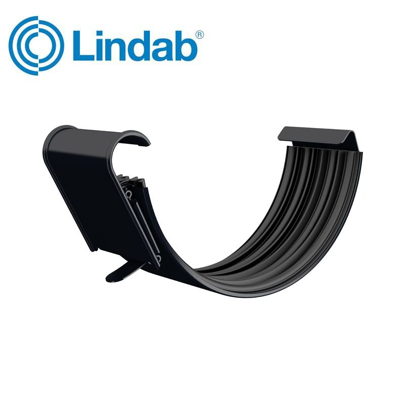 Video of Lindab Half Round Gutter Joint 125mm Painted Black