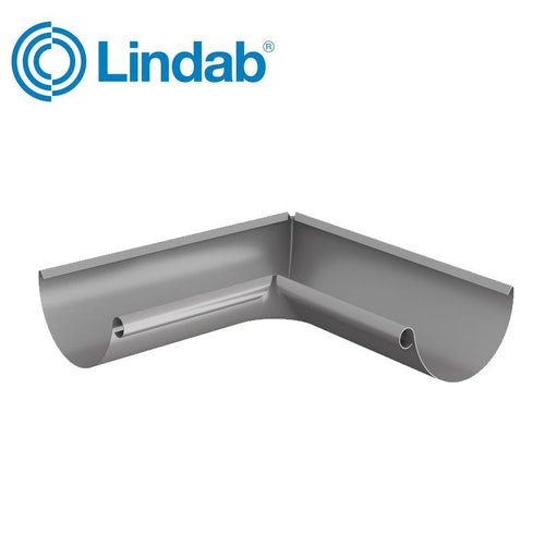 Lindab Half Round 90dg Inner Gutter Angle 150mm Painted Anthracite