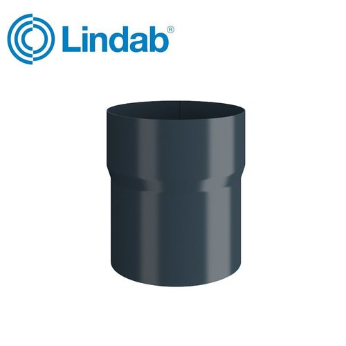 Lindab Round Pipe Connector 75mm Painted Dark Grey