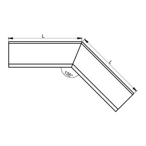 Lindab Half Round 135dg Inner Gutter Angle 125mm Painted Antique White