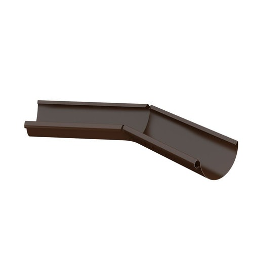 Lindab Half Round 135dg Inner Gutter Angle 125mm Painted Brown