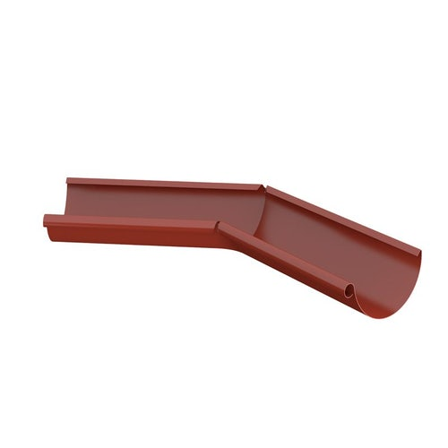 Lindab Half Round 135dg Inner Gutter Angle 150mm Painted Tile Red