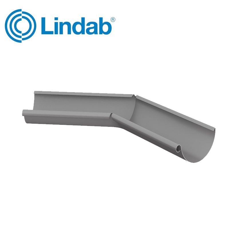 Video of Lindab Half Round 135dg Inner Gutter Angle 150mm Painted Anthracite