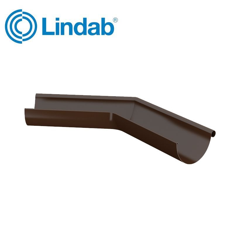 Video of Lindab Half Round 135dg Outer Gutter Angle 125mm Painted Brown
