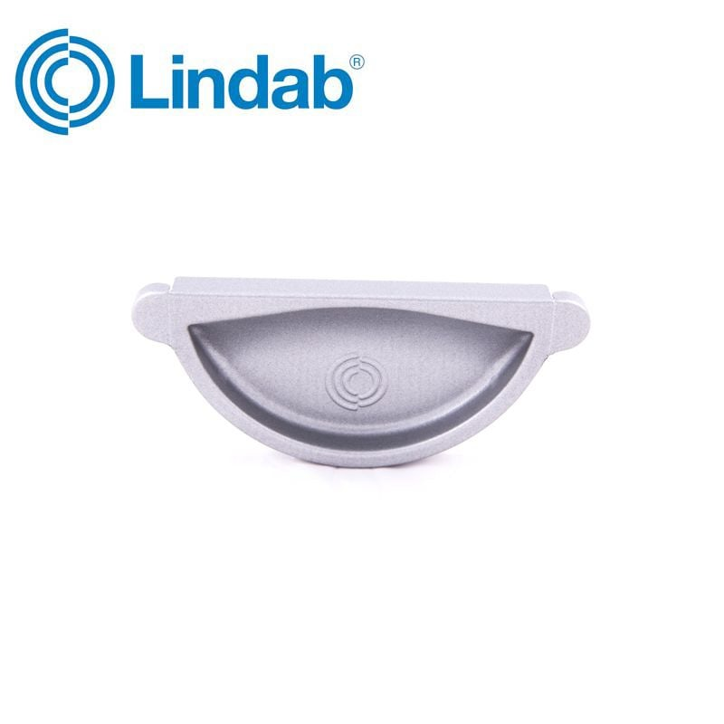 Video of Lindab Half Round Self Sealing Stop End 100mm Painted Silver Metallic