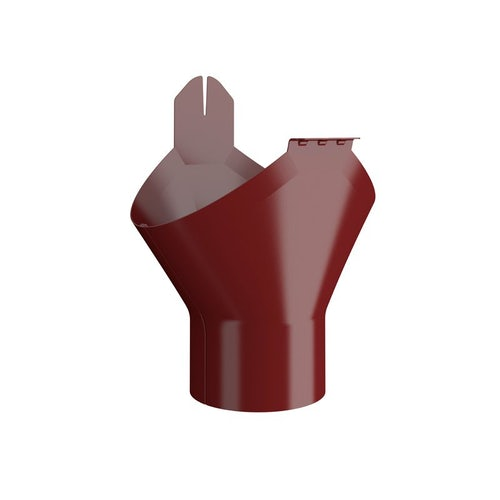 Lindab Half Round Gutter Outlet 100mm Painted Dark Red