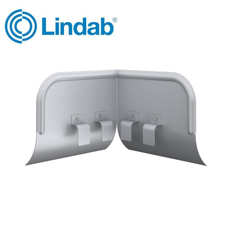 Video of Lindab Half Round Universal Overflow Protector Painted Silver Metallic