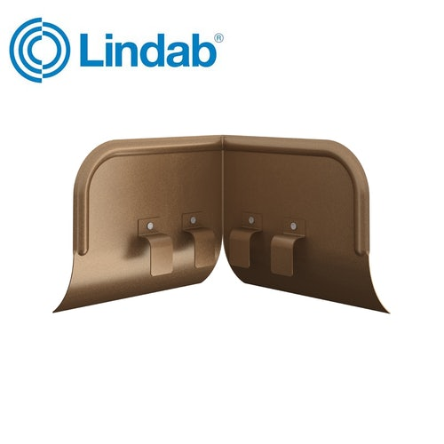 Lindab Half Round Overflow Protector 100mm - 190mm Painted Copper