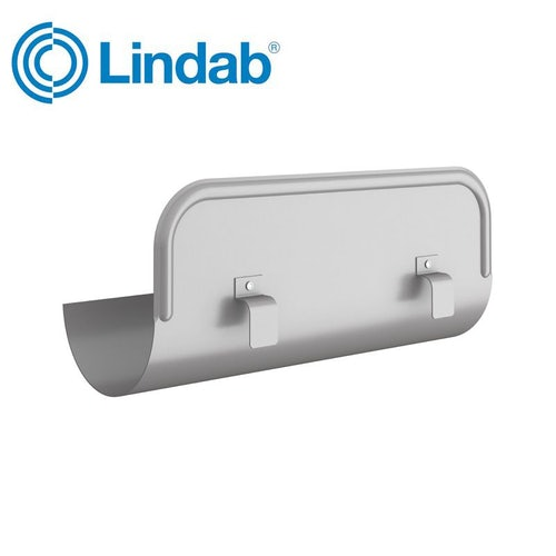 Lindab Half Round Straight Overflow Protector 150mm Painted Anthracite