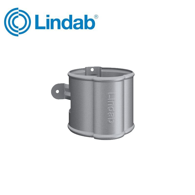 Video of Lindab Round Downpipe Bracket 87mm Painted Silver Metallic