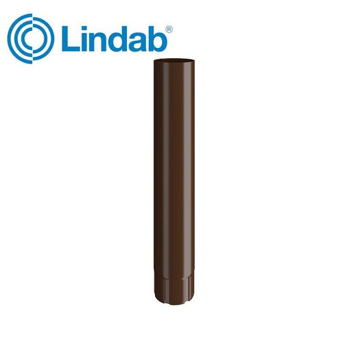 Lindab Round Intermediate Pipe 75mm x 1m Painted Brown