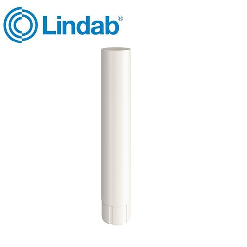 Lindab Round Intermediate Pipe 87mm x 1m Painted Antique White