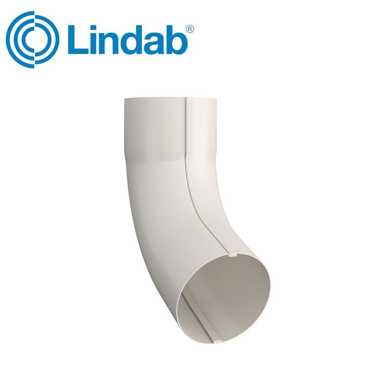 Video of Lindab Guttering Round 70dg Pipe Bend 120mm Painted Antique White