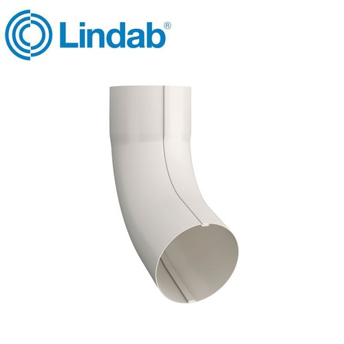 Lindab Guttering Round 70dg Pipe Bend 120mm Painted Antique White