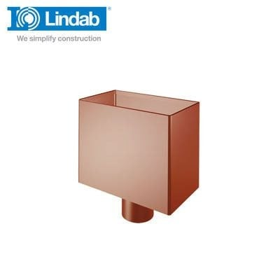 Video of Lindab Small Rectangular Steel Water Hopper Painted Dark Red 120mm