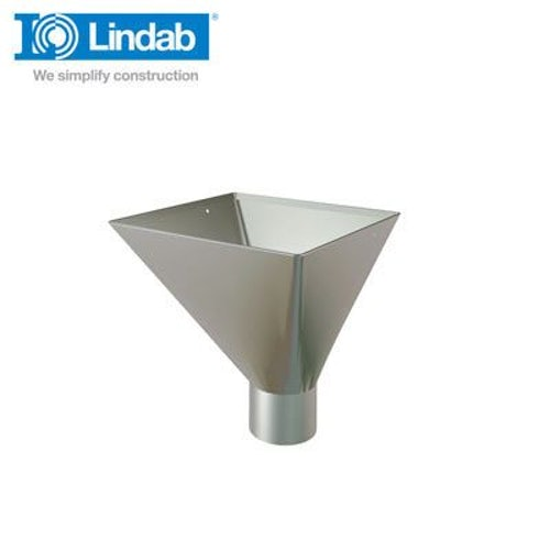 Lindab Large Square Water Hopper 120mm Painted Anthracite Metallic
