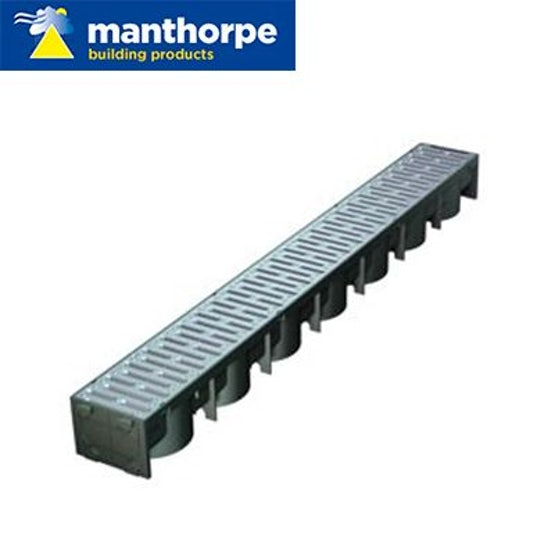 Manthorpe SmartDrain Drain Channel - Silver - Pack of 48 x 1m Lengths
