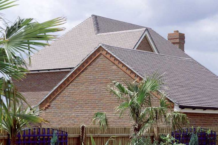 Marley Concrete Plain Roof Tile Old English Dark Red