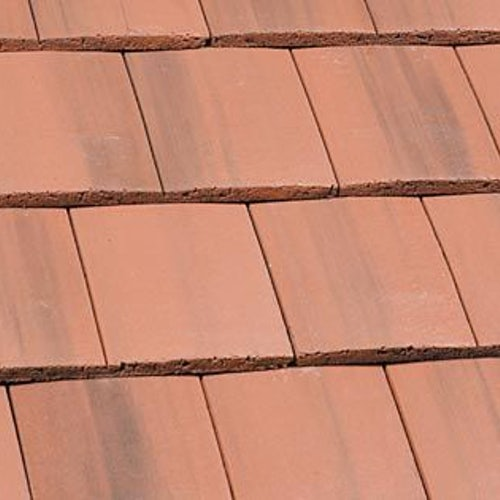 Marley Ashmore Interlocking Duo Plain Roof Tile - Old English Dark Red