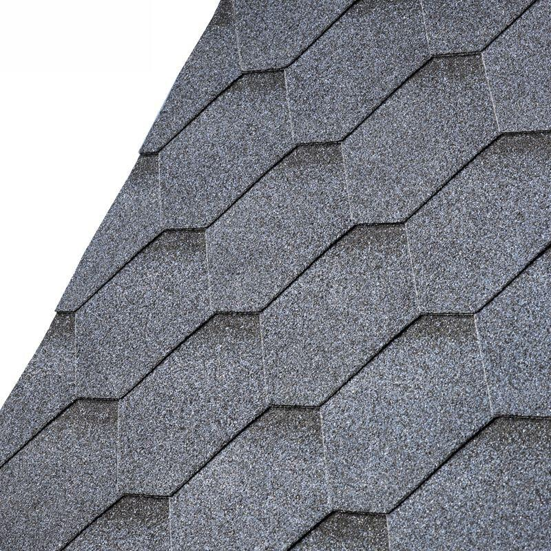 IKO Armourshield Hexagonal Roofing Shingles (Granite Grey) - 3m2 Pack