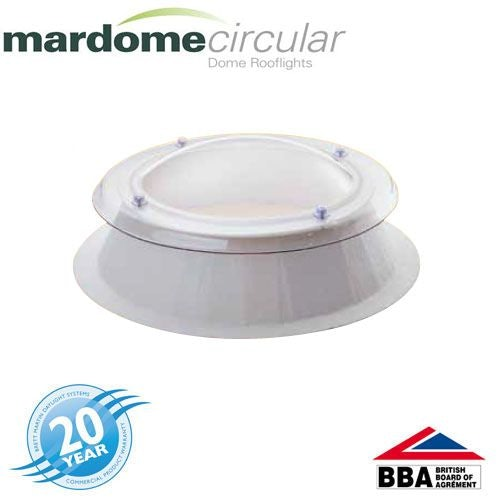 Mardome Circular 900mm Triple Glazed Fixed Dome & Kerb