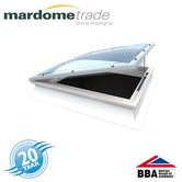 Mardome Trade Opening Roof Dome & Kerb 600 x 600mm Trp Glazed Textured