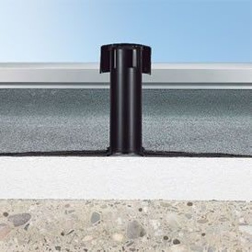 Klober Flavent uPVC Roof Breather Vent with Standard Flange - 100mm