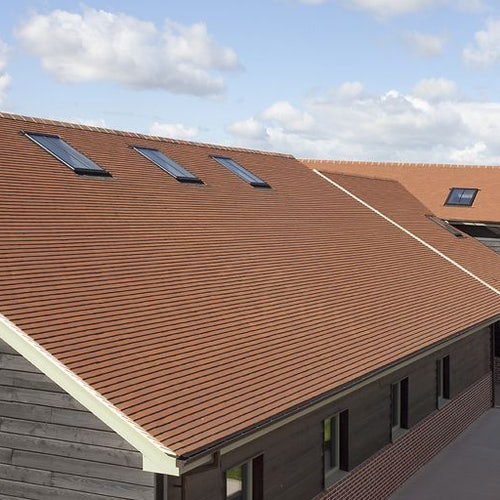 Marley Clay Plain Acme Single Camber Roof Tile - Farmhouse Brown