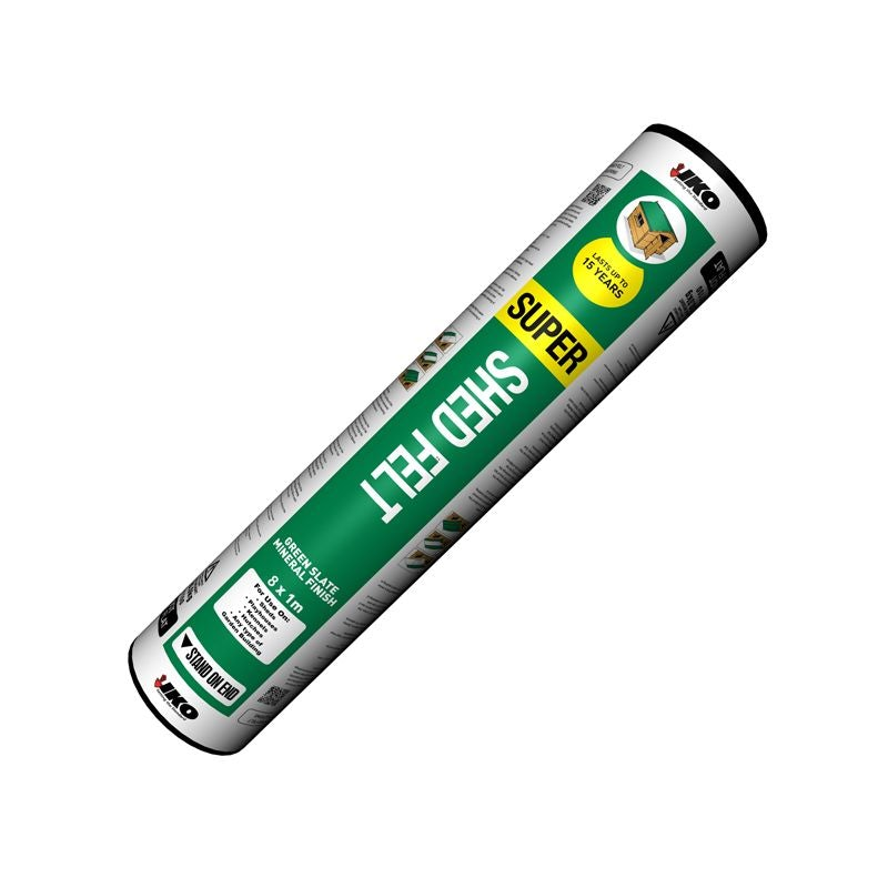 IKO Super Shed Roofing Felt (Green Mineral) - 8m x 1m Roll