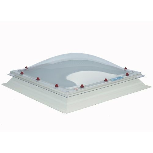 Em Dome 1000mm x 1000mm Double Glazed Clear Fixed Dome & Curb