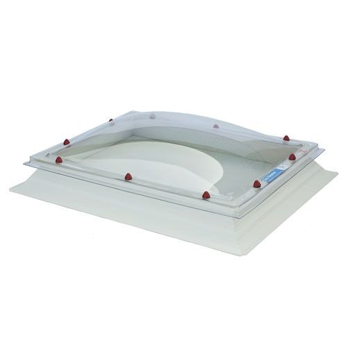 Em Dome 1200mm x 2400mm Double Glazed Clear Fixed Dome & Curb