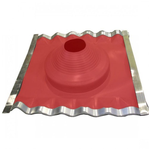 Pipe Flashing for Metal Roofs 254-406mm Dektite Diverter Red Silicone