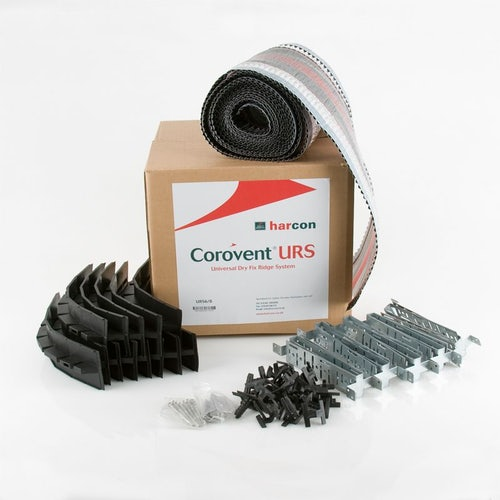 Corovent Universal Dry Fix Ridge System (6m Pack) Black