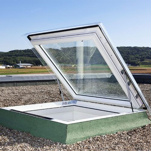 VELUX Flat Roof Window Opaque Exit Hatch - 1000mm x 1000mm