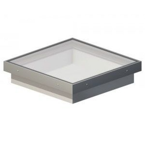 Em-Glaze 800mm x 800mm Double Glazed Clear Fixed with Vertical Curb