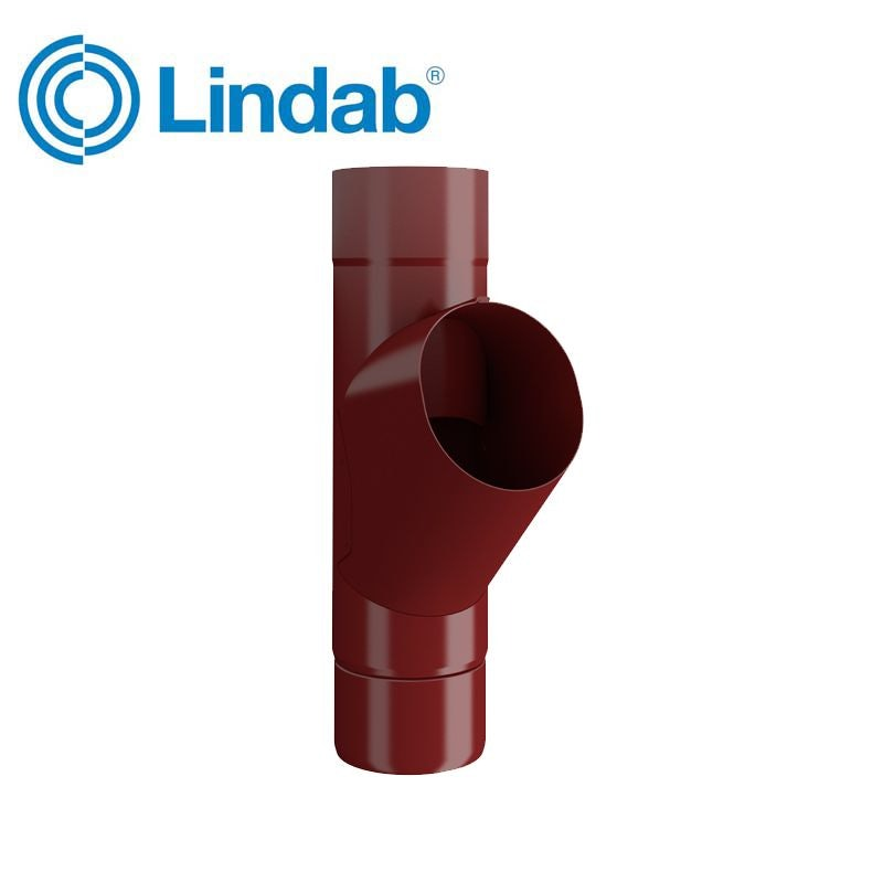 Video of Lindab Guttering Round Adjustable Branch 120mm Painted Dark Red