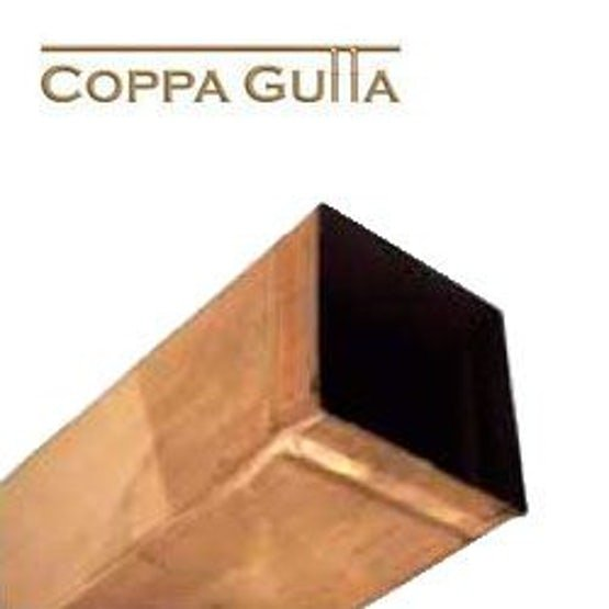 Copper Guttering Square 80x80mm Downpipe 2.4m Length