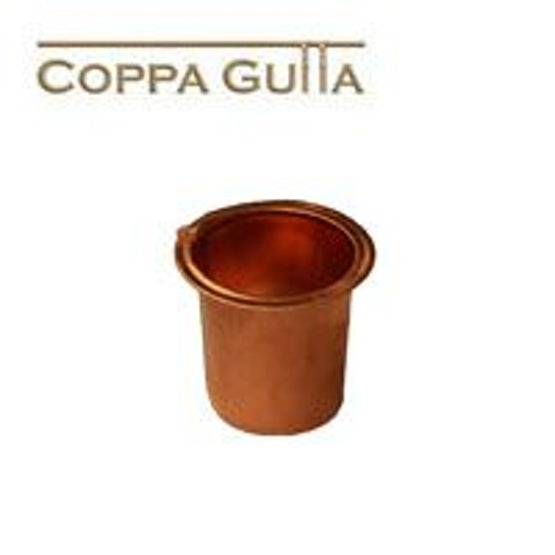 Copper Guttering Square 80mm Outlet to Round Downpipe.