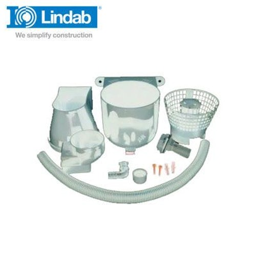 Lindab Rain Water Diverter Suitable for 75mm & 87mm Downpipes - White