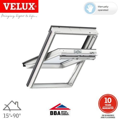 Video of VELUX GGU SK06 0070 White Centre Pivot Window Laminated - 114 x 118cm
