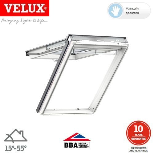 Video of VELUX GPU SK06 0066 White Top Hung Window Triple Glazed 114cm x 118cm
