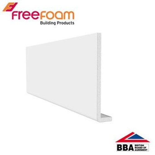 uPVC 200mm Fascia Board (10mm Cappit Square Edged) 5m - White