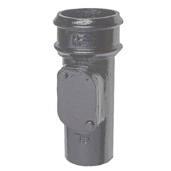 Cast Iron Round Downpipe Access Point 100mm - Primed Finish