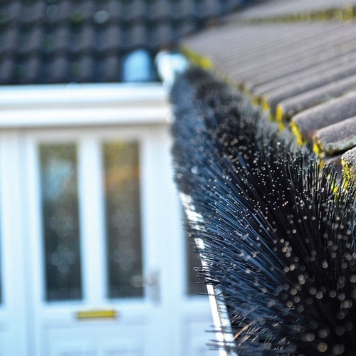 Lindab 3m Length Leafline Gutter Brush Black - 125mm
