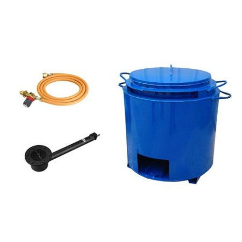Double Skin Bitumen Boiler Pot Complete Kit - 85 Gallon (With Tap)